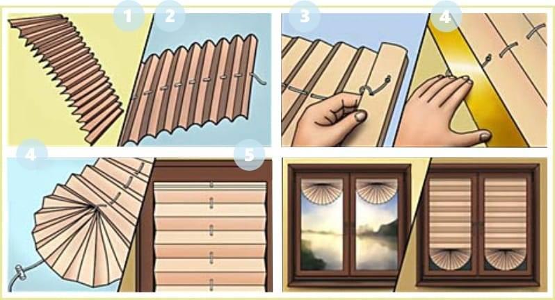 Как сделать римские шторы из бумаги