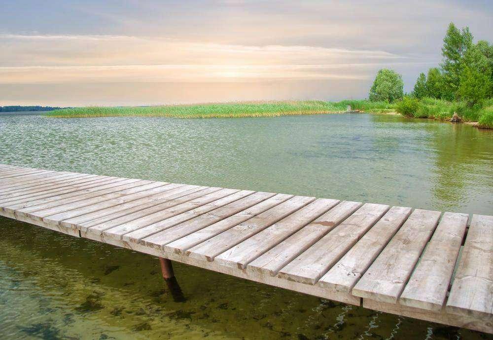 Как сделать пирс в озере