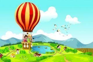 Полет на воздушном шаре рисунок