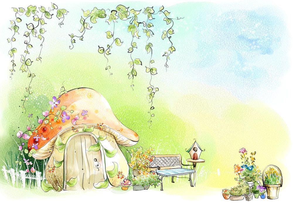 Открытка открытка, сказочные домики картинки рисунки