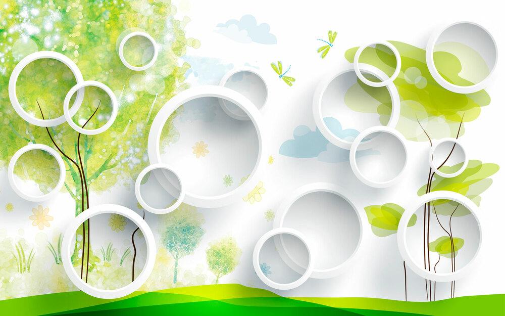 Фотообои 3d опушка леса