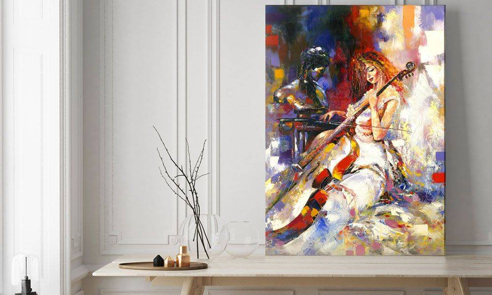 Картины для интерьера — примеры оформления картин в интерьере