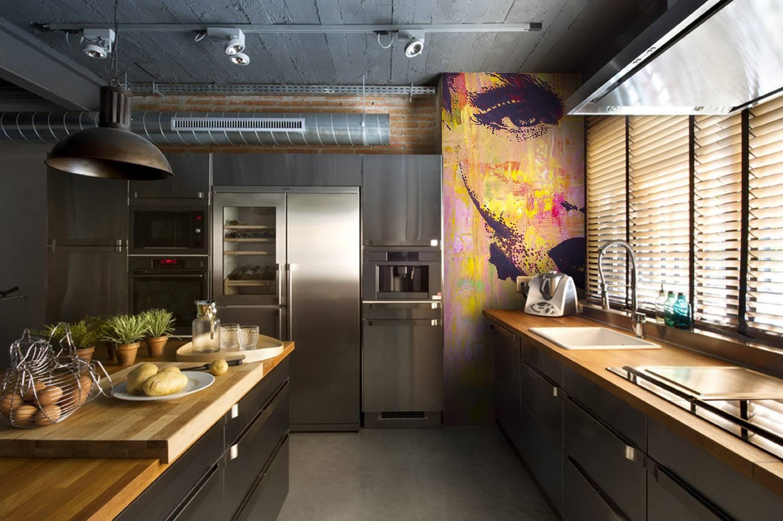 інтер'єр кухні в стилі лофт
