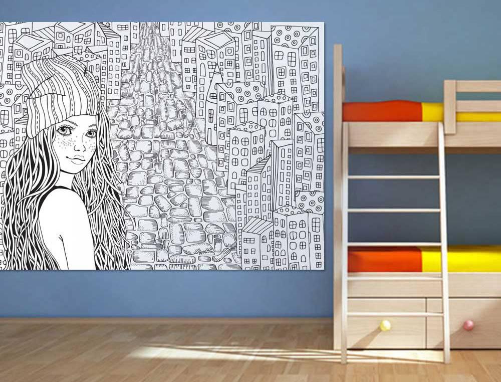 шпалери-розмальовки для декору дитячої