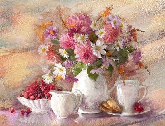 Натюрморт картина ваза квітка 59782e0625365
