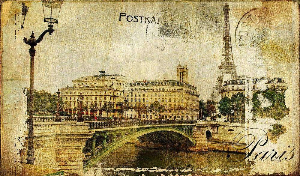 Старинные открытки с видами, поздравление